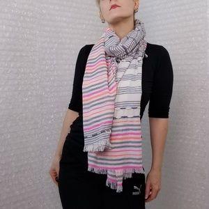 Floreat stripe fringe XL scarf from Anthropologie